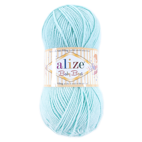 Пряжа для вязания Ализе BabyBest (90%акрил, 10%бамбук) 100гр цвет 019 мята фото