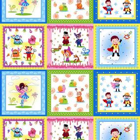 Ткань на отрез cитец платочный 95 см 21185/1 Детский платок фото