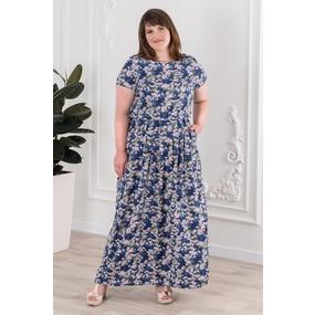 Платье 0926-26 цвет Сирень р 54 фото
