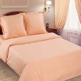 Ткань на отрез поплин гладкокрашеный 115 гр/м2 220 см цвет персик фото