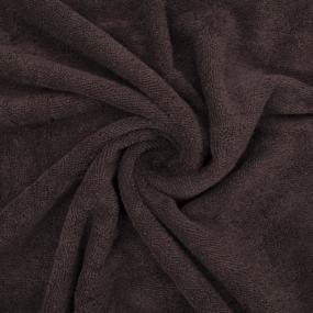 Ткань на отрез махровое полотно 150 см 390 гр/м2 цвет шоколад фото
