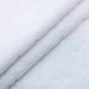 Отрез Плюш Минки Звезды Польша 44/160 см цвет белый фото
