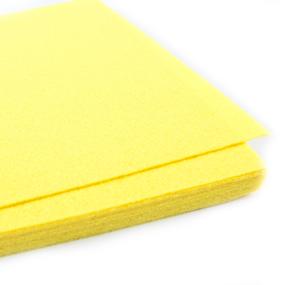 Фетр листовой жесткий IDEAL 1мм 20х30см арт.FLT-H1 цв.633 лимон фото