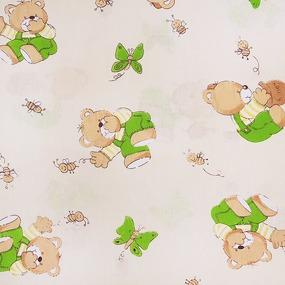 Ткань на отрез бязь ГОСТ детская 150 см 1332/6 За медом цвет бежевый фото