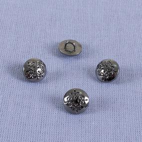 Пуговица металл ПМ69 10мм черный никель узор уп 12 шт фото