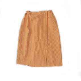 Вафельная накидка на резинке для бани и сауны Премиум женская с широкой резинкой цвет 131/3 фото