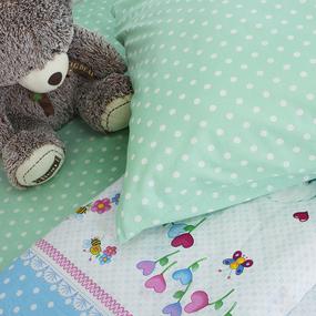 Детское постельное белье из поплина 1.5 сп 10761/1 Пушистик фото