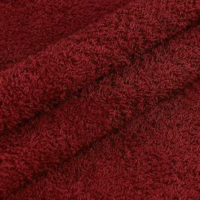 Ткань на отрез махровое полотно 220 см 380 гр/м2 цвет винный фото