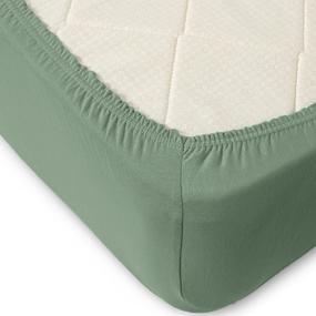Простыня трикотажная на резинке Премиум цвет серо-зеленый 120/200/20 см фото