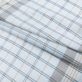 Ткань на отрез полулен полотенечный 50 см 3/85/11 Клетка лавр весенний 113358 фото