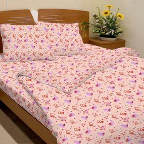 Ткань на отрез бязь ГОСТ детская 150 см 116/4 Мишки цвет розовый фото