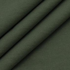 Ткань на отрез футер с лайкрой 2802 цвет хаки фото
