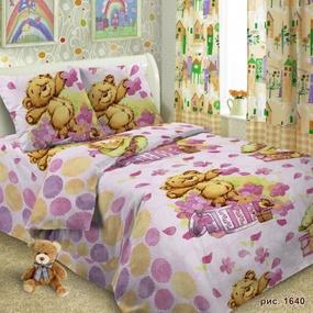 Детское постельное белье 1640 Тэдди 1.5 сп поплин фото