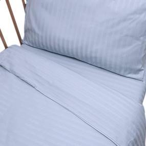 Постельное белье в детскую кроватку Голубой страйп- сатин фото
