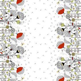 Ткань на отрез рогожка 150 см 30157/2 Одуванчики фото