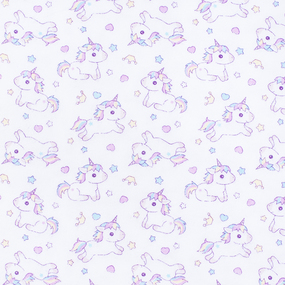 Ткань на отрез ситец 95 см 98071 Единорожки фото