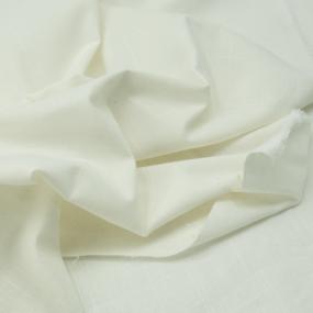 Ткань на отрез лен цвет молочный фото