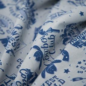 Ткань на отрез кулирка R2367-V1 Ковбойский клуб фото