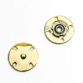 Кнопка металлическая золото КМД-3 №15 уп 10 шт фото