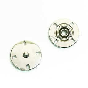Кнопка металлическая никель КМД-3 №18 уп 10 шт фото