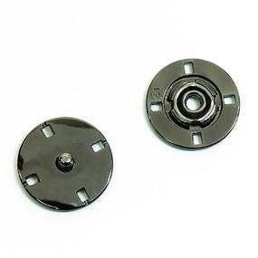 Кнопка металлическая черный никель КМД-3 №18 уп 10 шт фото