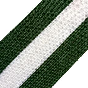 Лампасы №22 зеленый белый зеленый 4см уп 10 м фото