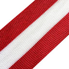 Лампасы №24 красный белый красный 3,5см уп 10 м фото