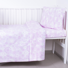 Постельное белье в детскую кроватку 250/41 цвет розовый фото