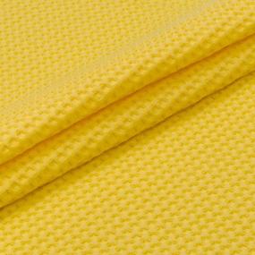 Ткань на отрез вафельное полотно гладкокрашенное 150 см 240 гр/м2 7х7 мм цвет 257 желтый фото