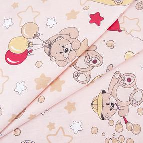 Бязь ГОСТ детская 150 см 350/4 Мишки цвет бежевый фото