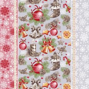 Ткань на отрез вафельное полотно 50 см 209251 Новогодний сувенир 1 фото