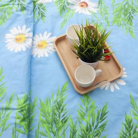 Пододеяльник из бязи 1480/3 Ромашки голубой, 1,5 спальный фото