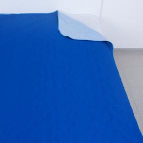 Покрывало детское ультрастеп двухстороннее цвет василек-голубой 105/150 см фото