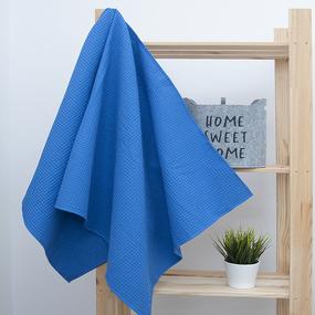 Полотенце вафельное банное Премиум 150/75 см цвет 556-3 василек фото