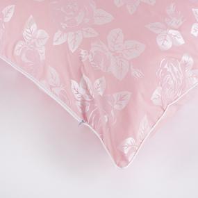 Подушка Лебяжий пух Розы цвет розовый 70/70 фото