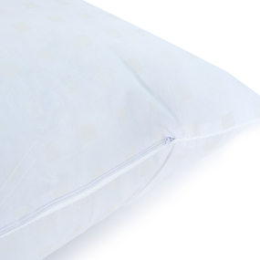 Подушка Лебяжий пух 40/60 Шашки белый фото