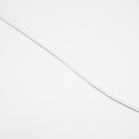 Резинка вязаная 2мм 200м белая фото