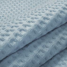 Ткань на отрез вафельное полотно гладкокрашенное 150 см 240 гр/м2 7х7 мм цвет 952 серо-голубой фото
