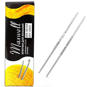 Крючок для вязания ТВ-СН-01 Maxwell Black №3/0-6/0 двусторонний. 2,3 мм- 3,0 мм фото