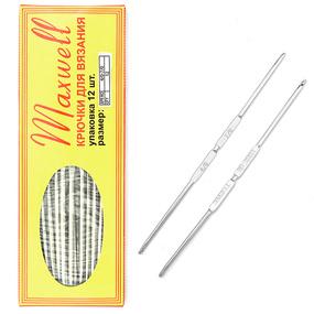 Крючок для вязания ТВ-СН-01 Maxwell Black №4/0-7/0 двусторонний. 2,5 мм- 3,2 мм фото