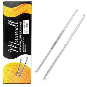Крючок для вязания ТВ-СН-01 Maxwell Black №9/0-10/0 двусторонний. 4,0 мм- 4,5 мм фото