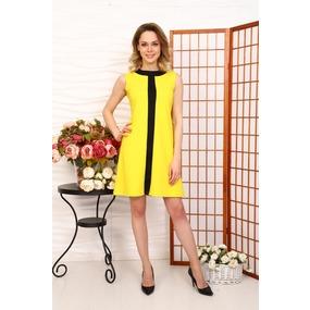 Платье Ялта желтое Д515 р 56 фото