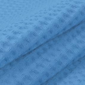 Ткань на отрез вафельное полотно гладкокрашенное 150 см 240 гр/м2 7х7 мм цвет 556-3 василек фото