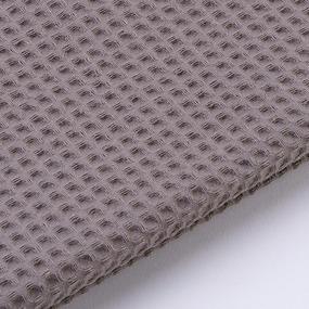 Ткань на отрез вафельное полотно гладкокрашенное 150 см 240 гр/м2 7х7 мм цвет 896 темно-коричневый фото