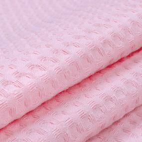 Ткань на отрез вафельное полотно гладкокрашенное 150 см 240 гр/м2 7х7 мм цвет 719 роза фото