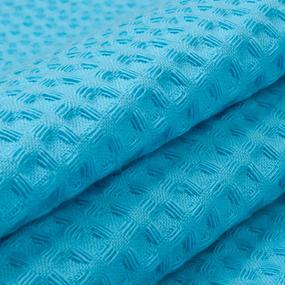 Ткань на отрез вафельное полотно гладкокрашенное 150 см 240 гр/м2 7х7 мм цвет 437 бирюзовый фото