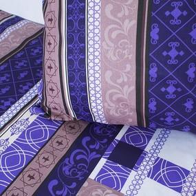 Комплект простыня 1.5 сп + 1 нав. 70/70 бязь 301/3 Аккорд цвет фиолетовый фото