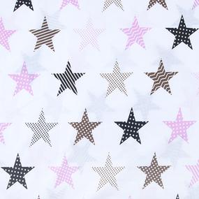 Маломеры бязь плательная 150 см 8104/1 Звезды пэчворк цвет розовый 11 м фото