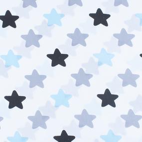 Набор детских пеленок поплин 4 шт 73/120 см 1798/2 цвет голубой фото