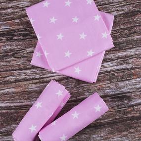 Набор детских пеленок бязь 4 шт 73/120 см 1700/2 цвет розовый фото